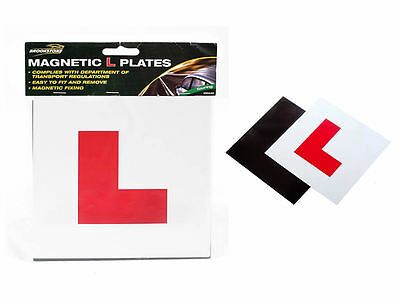 Pair Of Fully Magnetic L Plates Secure Learner Car Driver Road Legal