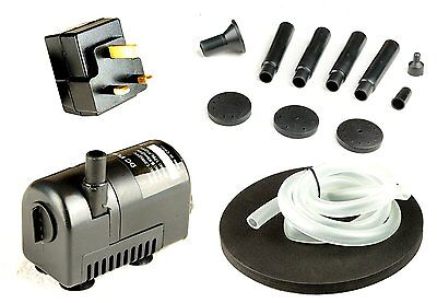 Fountain Pump with Low Voltage Mains Adaptor for Water Feature by PK Green