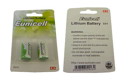 Pack of 2 CR2 Camera Batteries by PK Green