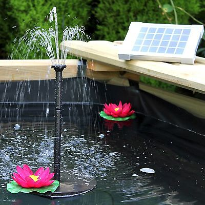 2W Solar Fountain Pump for Water Feature - 70cm Height for Garden Pond