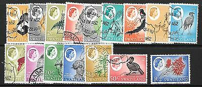 Swaziland Sg90/105 1962 Definitives Fine Used