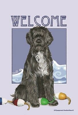 Large Indoor/Outdoor Pipsqueak Flag - Portuguese Water Dog 49577
