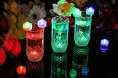 10 Colour Changing Underwater Submersible LED Lights - Pool Party Event Pond
