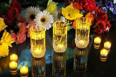 10 Underwater Amber Submersible LED Lights - Pool Party Event Pond Tea Light