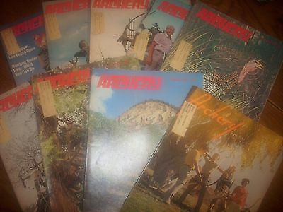 vintage bowhunting magazine, 1972 ARCHERY, 9 issues