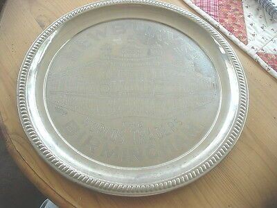 Vintage 1920S 30S Chromed Tin Tray From Newburys Roof Top Cafe In Birmigham