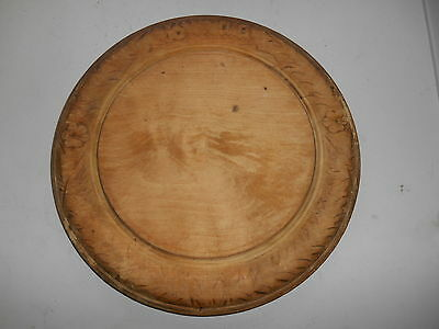"Vintage Shabby Chic Welsh Carved 11.3/4"" Wooden Bread Board"