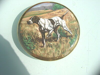 Collectable  Retro Sylvac Pottery Plaque With Pointer Gun Dog Pattern