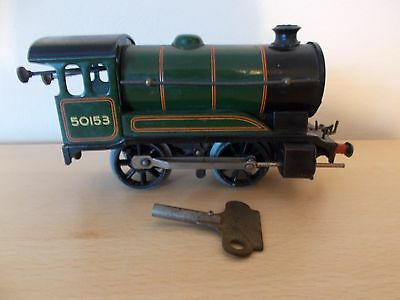 Hornby 51 O Gauge Clockwork Locomotive No 50153 (Forward/Reverse) with key
