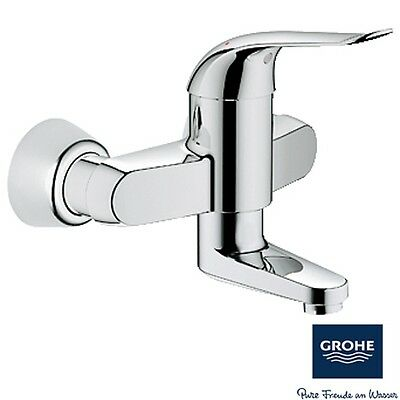 Grohe Euroeco Special Chrome Wall Mounted Basin Mixer Tap 32770000
