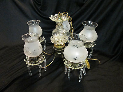 "Antique Chandelier Crystal Tear Prisms 25, Union Made #55524  91, 12"" Tall"
