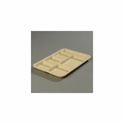 Carlisle Food Service Products Right Hand 6-Compartment Tray Tan Set of 24