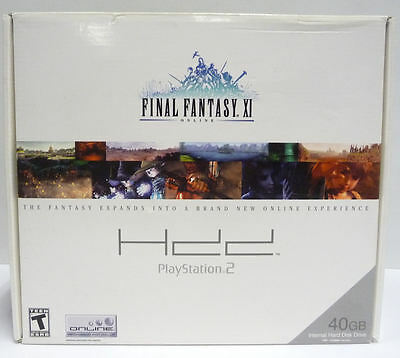 Final Fantasy Xi Online 40Gb Hdd Hard Disk Drive Bundle Ps2 New Ntsc Usa Rare