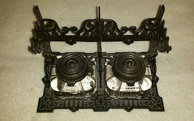 Victorian? Tatum's  Postal Ink Well Stand And Bottles