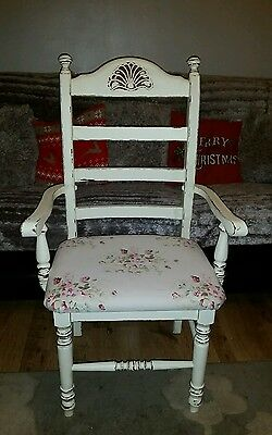 Shabby chic solid wood vintage style chair
