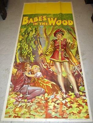 ORIGINAL 1930s PANTOMIME POSTER - BABES IN THE WOOD - 3 SHEET