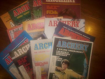 vintage bowhunting magazine, 1976 ARCHERY, 12 issues..full year..