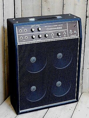 Vintage 1970's Teisco Checkmate 480 Solid State 4x8 Speaker Combo Amp