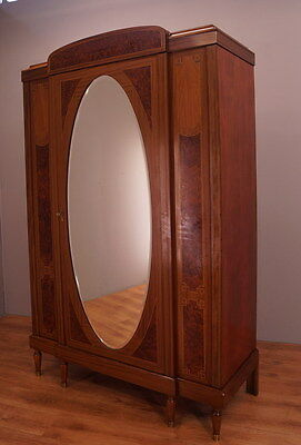 1152 !! Impressive Mahogany Wardrobe/armoire In Empire Style !!