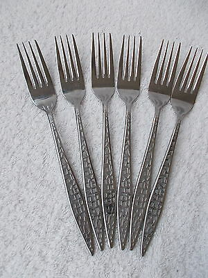 Viners Stainless Steel Mosaic Pattern - Six Dessert Forks