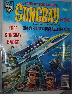 Stingray - The Comic. No 1. October 1992. ITC. With Badge