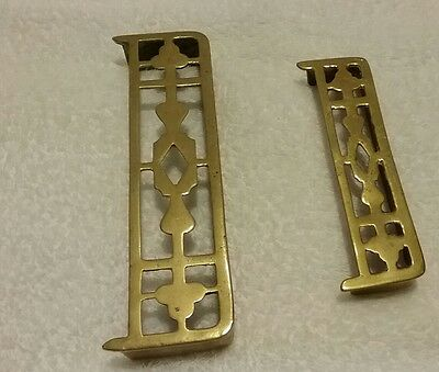 Two Miniature Victorians Brass Fireplace Fenders