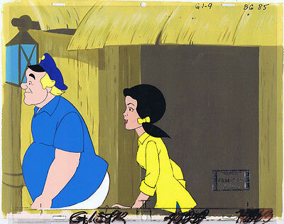 Gilligan's Island Original Production Animation Cel & Painted Bkgd #A12550
