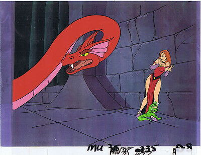 He-Man Masters of the Universe Original Animation Cel & Copy Bkgd #A13044