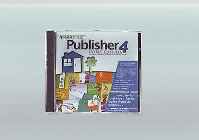 Publisher 4 Home Edition - Desktop Desk Top Publishing Pc Software- New & Sealed