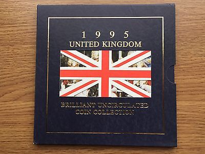 1995 Brilliant Uncirculated 8 Coin Collection Year Set Royal Mint BU