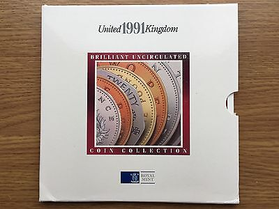 1991 Brilliant Uncirculated Coin Collection Year Set - Royal Mint BU Folder