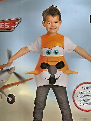 Dusty Crophopper Costume 3D Disney Planes Halloween Size 4/6 small NEW IN PACK