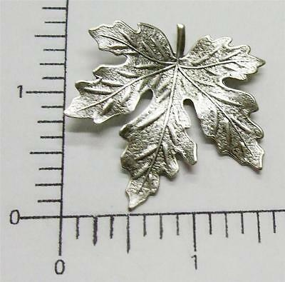 33024    Matte Silver Oxidized Victorian XL Maple Leaf Brass Finding