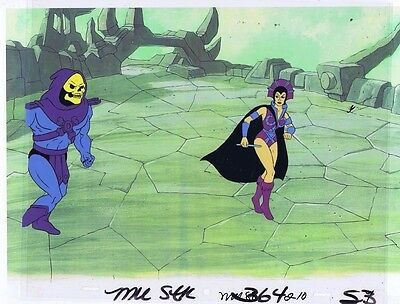 He-Man Masters of the Universe Original Animation Cel & Copy Bkgd #A13110
