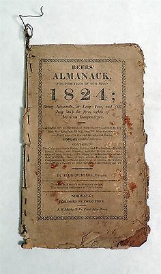 B613. Vintage BEERS' ALMANAC For The Year of Our Lord 1824 Historical Booklet