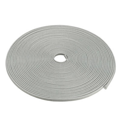 6mm Dia Tight Braided PET Expandable Sleeving Cable Wire Wrap Sheath Gray 10M