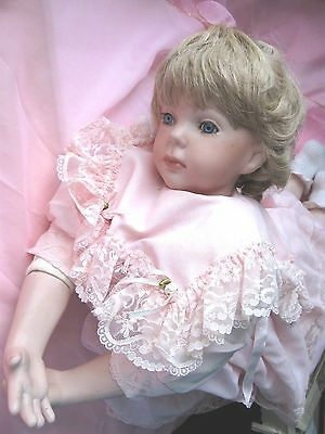 PORCELAIN DOLL  22 inch (56 cm) BEAUTIFUL VGC
