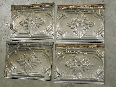 Old Antique ( Metal ) Tin ceiling tile / tiles (4) 6 X8  1880