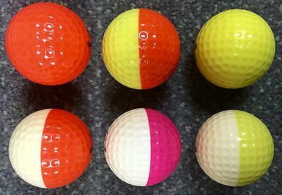 Lot Of 5 Ping Eye PUNCH Style golf Balls Solid Orange & Yellow  RAre �� Look!