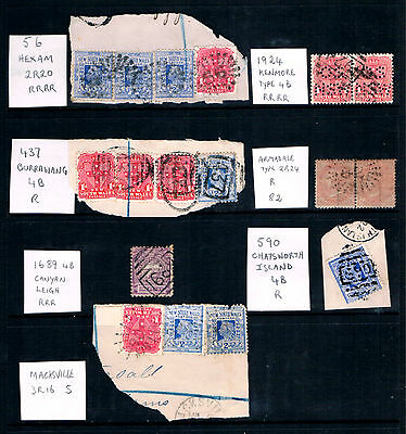 Australia NSW, a Selection of Rated Numeral Cancels on Piece.