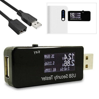 USB Charger Doctor Capacity Voltage Current Detector Meter & Battery Tester LCD