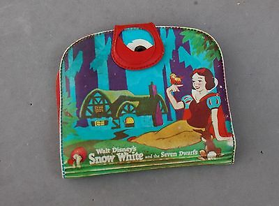 "Snow White & Seven Dwarfs Movie Disney Vintage 1963 Wallet Vinyl 4 1/2"" x 4 3/4"""