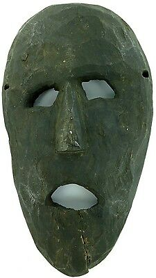 cLATE 1800s MIDDLE HILLS AREA HIMALAYAN CARVED LARGE WOODEN MASK, IMPRESSIVE! #5