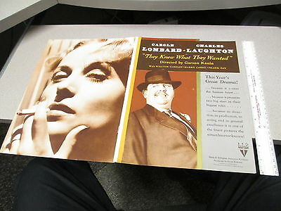 CITIZEN KANE Welles Carole Lombard Charles Laughton 1941 movie exhibitor book ad