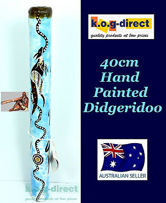 Didgeridoo Bamboo 40Cm Aboriginal Beautifully Hand Painted New Bl