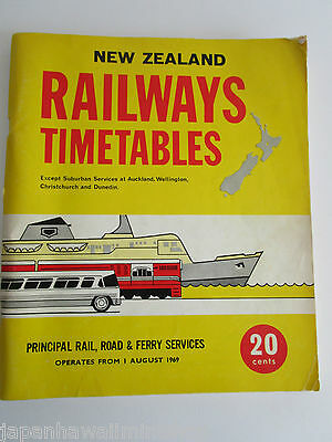 New Zealand Railways Train Timetable Amtliches Kursbuch Indicateur officiel 1969