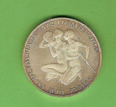 1972  Germany  Munich  Olympic  10 Mark Silver  Coin