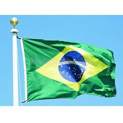 5*3ft Large Brazil Brasil National Flag Brazilian Banner Football World Cup