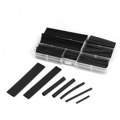 Heat Shrink Tube Wire Wrap Cable Sleeve Sets 8 Sizes Black w Case 150pcs
