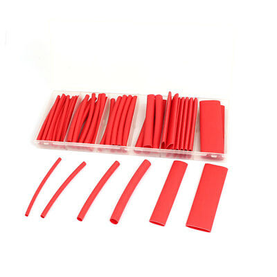 2:1 Heat Shrink Tube Wire Wrap Cable Sleeve Sets 6 Sizes Red w Case 53pcs